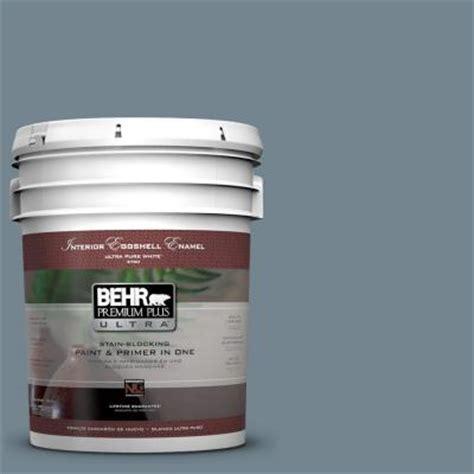 behr premium plus ultra 5 gal n480 5 adirondack blue eggshell enamel interior paint 275405
