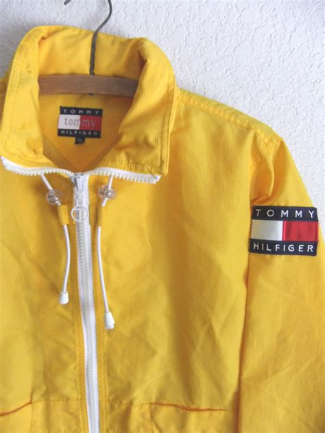 Kid Duvet 90s Tommy Hilfiger Anorak Raincoat Club Kid Yellow