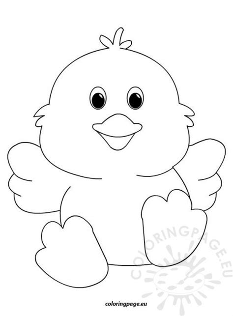 printable easter chick mask template cute easter chick2