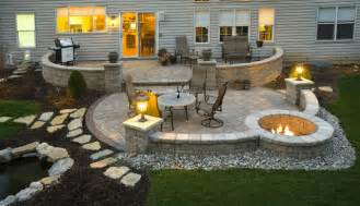 Stone Fire Pit Dimensions - paver patio contemporary exterior cincinnati by distinctive patios