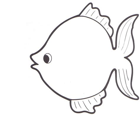 rainbow fish pattern for kindergarten best photos of fish shapes templates free printable fish