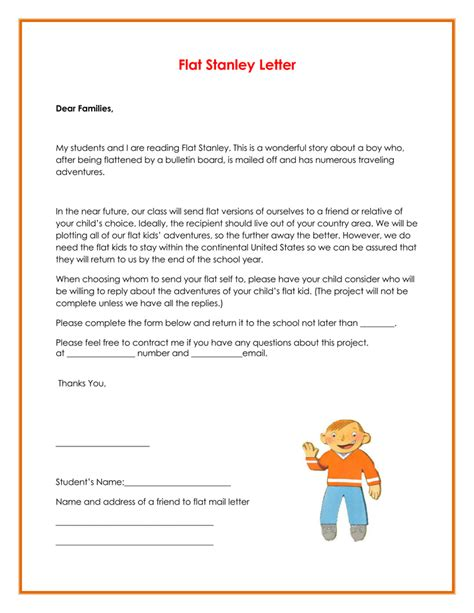 Free Printable Flat Stanley Template by Printable Flat Stanley Templates Letters Word Pdf