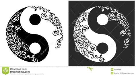 yin yang pattern yin yang two pattern symbol stock vector illustration of