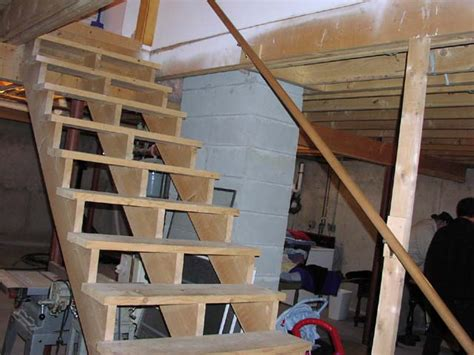 Stair Half Wall Railing Joy Studio Design Gallery Best How To Make Basement Stairs