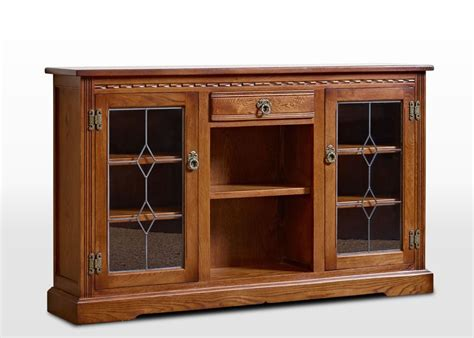 charm low bookcase with leadlight doors wood bros