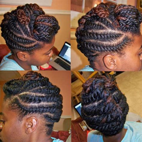 monie b hair flat twist style hair pinterest