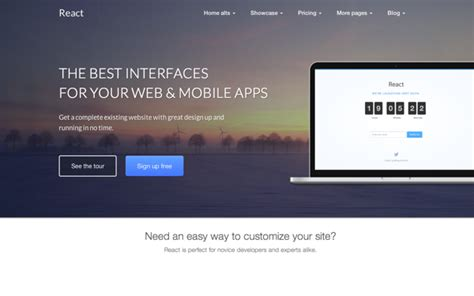 Download React Business Bootstrap Theme Template Bootstrap React Web Page Template
