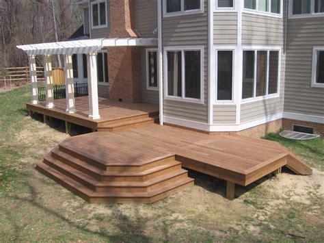 wood patio deck wood decks wooden deck builder arundel county mid atlantic deck fence since 1986