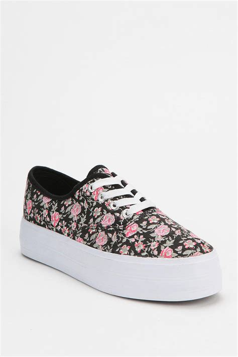 canvas platform sneakers bdg floral canvas platform sneaker on wanelo