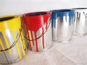 Used Plastic Storage Containers - mini dipped paint can planters reality daydream