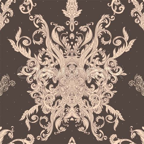 pattern baroque vector seamless vintage baroque pattern stock vector colourbox