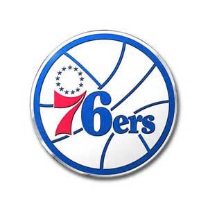 philadelphia 76ers color emblem car or truck decal team