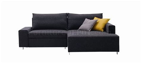 Grey Sectional Sofa Bed by Charcoal Grey Fabric Modern Sectional Sofa Bed W Metal Legs