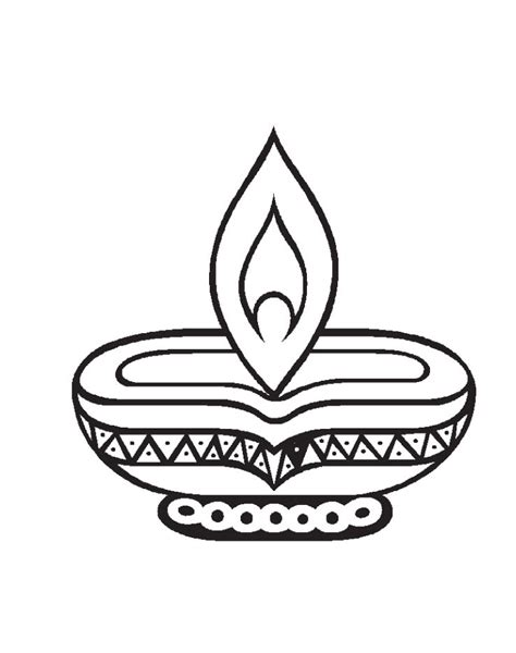 deepak coloring pages of diwali coloring pages