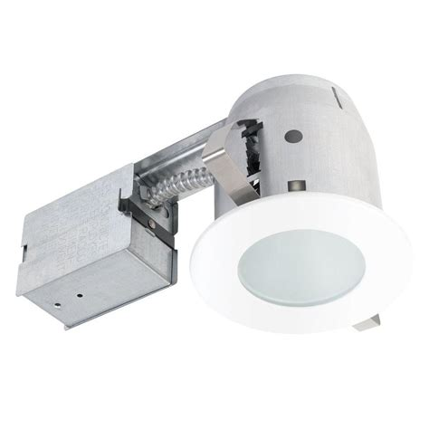globe electric recessed lighting installation globe electric 4 5 in white recessed circular shower