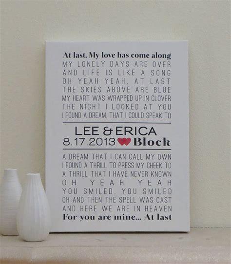 s gift lyrics wedding canvas 12x16 custom wedding song lyric