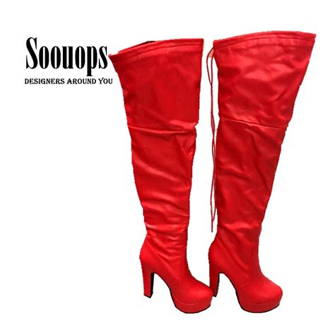 get cheap thigh high boots plus size aliexpress