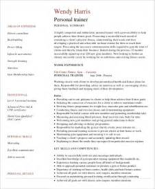 fitness trainer resume template personal trainer resume exle 5 free sles