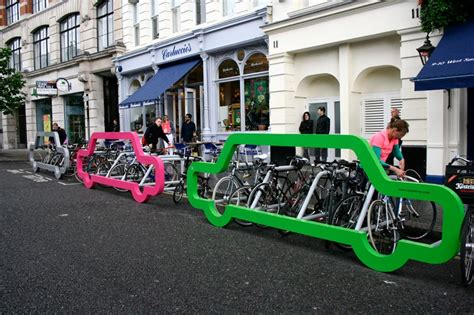 Bike Parking Rack by Bike Parking In New York Inspired By Designers