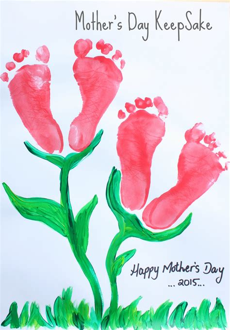 mothers day mother s day footprint flower keepsake emma owl