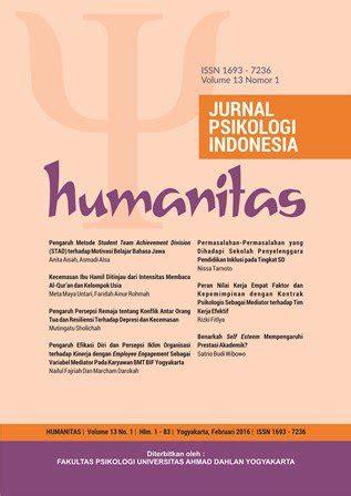 jurnal humanitas jurnal psikologi ke 3 terakreditasi di