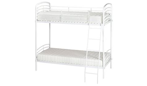 detachable bunk beds george home metal detachable bunk bed white beds george at asda
