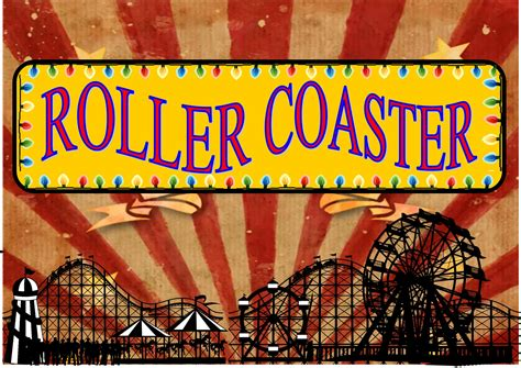 rollercoasters the sign of 0198355351 fairground roller coaster sign vintage reproduction the rooshty beach