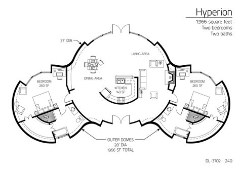 monolithic dome homes floor plans floor plan dl 3702 monolithic dome institute