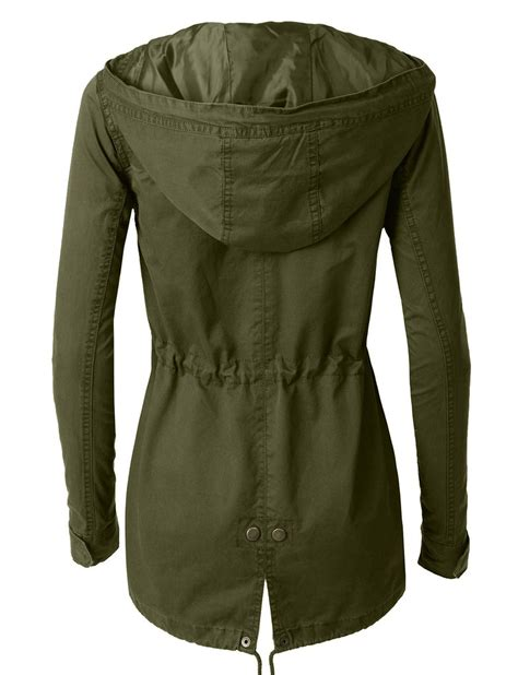 Best Seller Jaket X Coklat le3no womens anorak jacket with and drawstring waist le3no