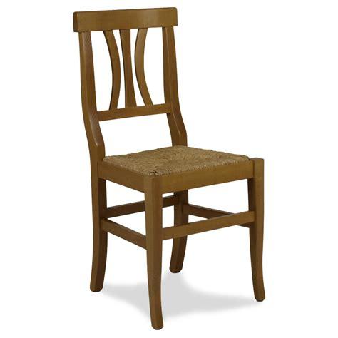 sedia legno sedia in legno arte povera con sedile in paglia mod 112