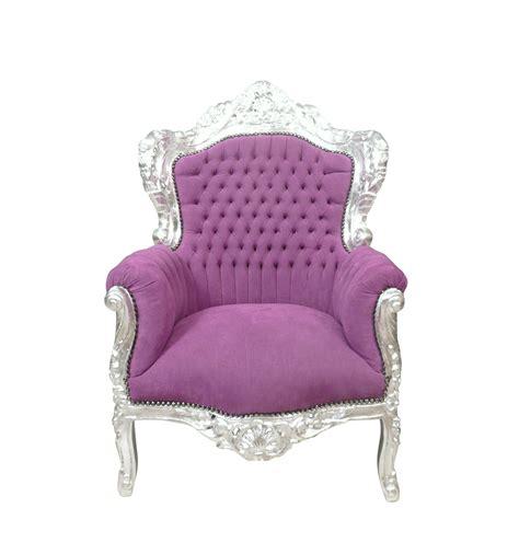 poltrona barocca viola mobili in stile