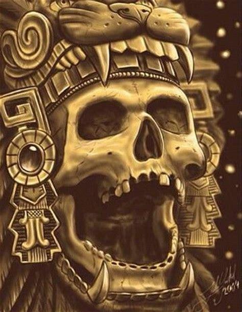 imagenes de calaveras aztecas chicano and aztec on pinterest
