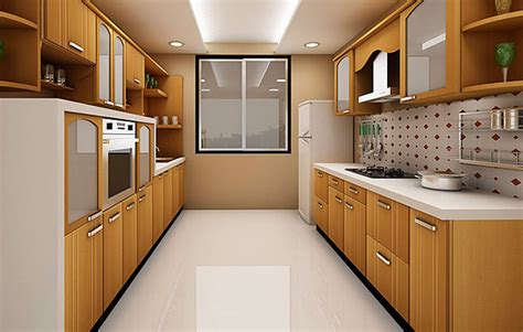 Godrej Kitchen Interiors parallel wall modular kitchens a guide on parallel wall