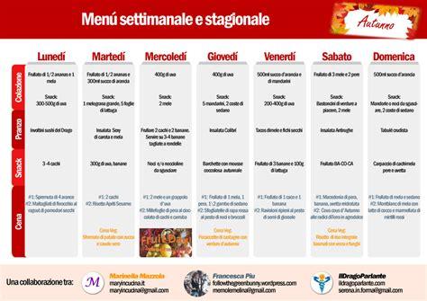 Spesa Settimanale Economica by Menu Settimanale Vegano Crudista Igienista Autunnale
