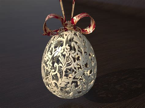 victorian easter egg  model  printable obj blend
