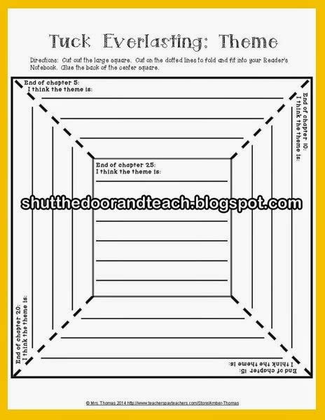 Tuck Everlasting Worksheets by Pictures Tuck Everlasting Worksheets Dropwin