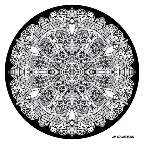 mandala coloring book jim gogarty pin by jim gogarty on my black white mandala