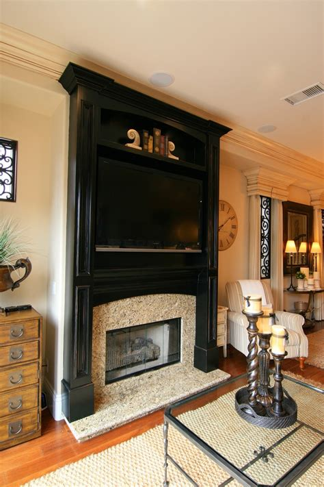 custom fireplace mantel with a black antiqued finish