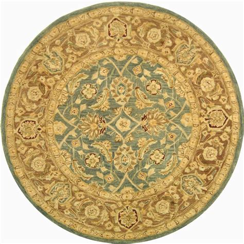 4 X 4 Area Rugs Safavieh Anatolia Blue Brown 4 Ft X 4 Ft Area Rug An549b 4r The Home Depot