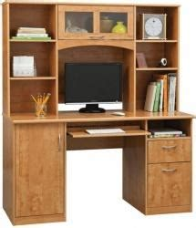 Landon Desk With Hutch Cherry Realspace Landon Desk With Hutch Choice Of Cherry Or Oak 164 99 Officedepot
