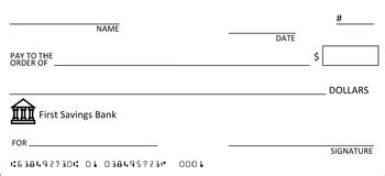 Completely Editable Check Template Great For Class Economy Tpt Editable Blank Check Template