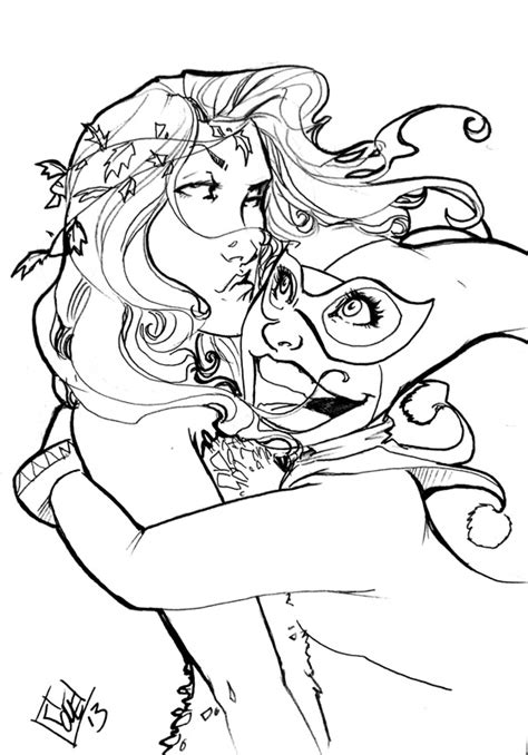 harley quinn and poison ivy coloring pages 7 images of harley davidson logo coloring pages