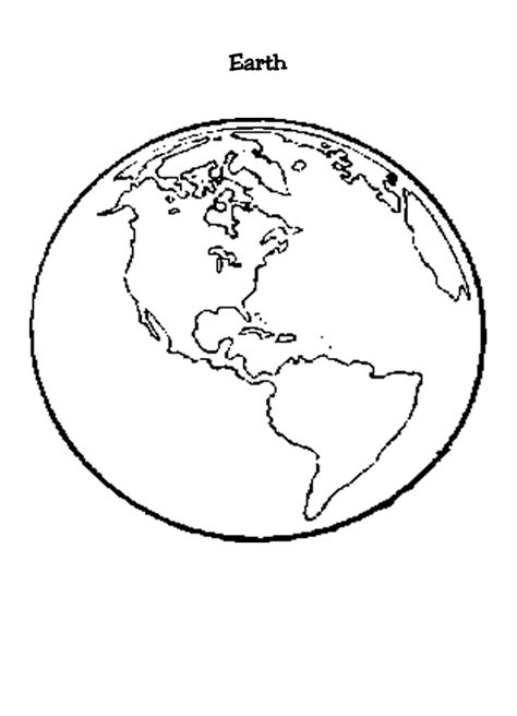 free coloring pages of a world globe