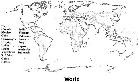 Blank World Map Quiz by Gallery For Gt Printable Blank World Map Quiz