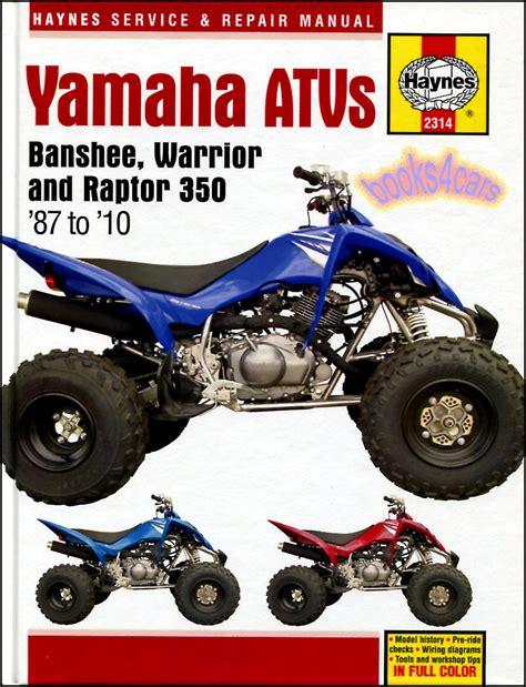 Yamaha Atv Shop Manual Service Repair Book 350 Banshee