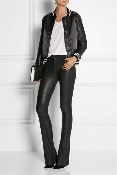 j brand leather j brand vivia stretch leather in black lyst