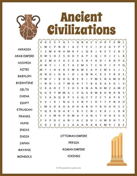 printable word search china ancient civilizations word search puzzle
