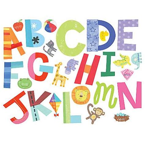 alphabet wall stickers for bright alphabet wall stickers by letteroom