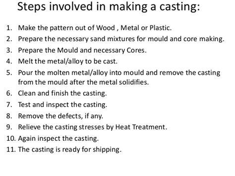 pattern making slideshare casting by amjad