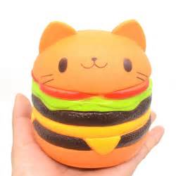 Squishy Burger Jumbo jumbo squishy hamburger cat rising